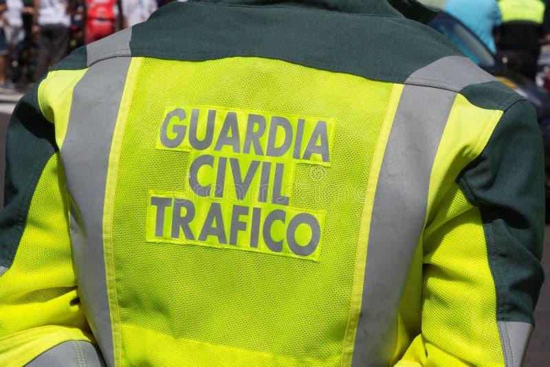 Zivilverkehrs-Offiziere Spaniens Guardia stockfoto