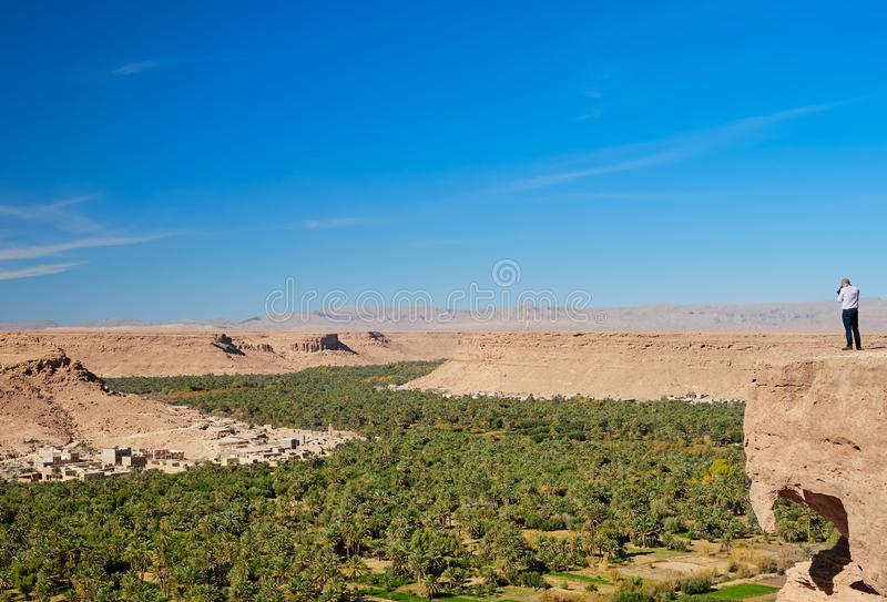 Ziz Valley, Moroco - December 03, 2018: views of the ziz valley stock photos