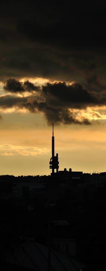 Zizkov信号塔在布拉格 免版税库存图片