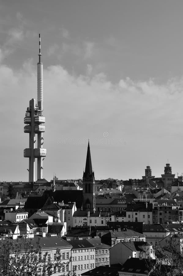 Zizkov信号塔,布拉格,捷克 图库摄影
