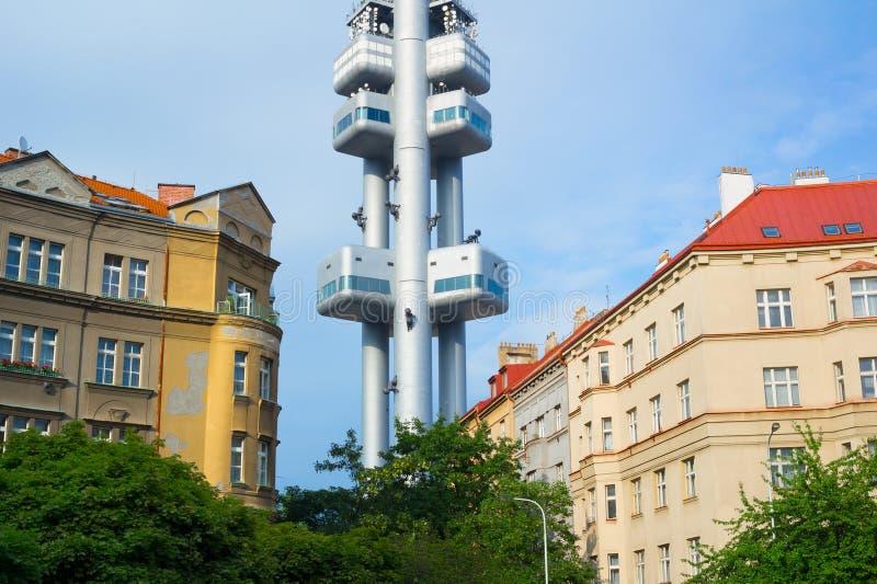 Zizkov塔,布拉格,捷克 免版税库存图片