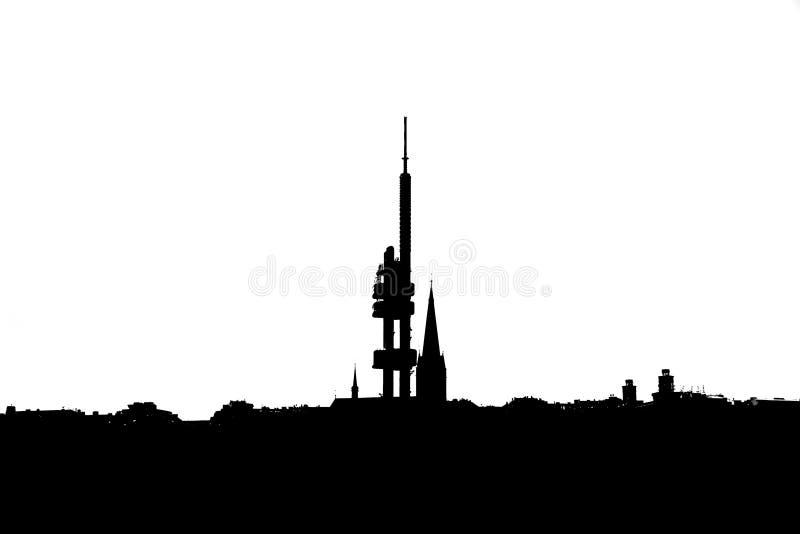 Zizkov Television Tower Prague royalty free stock photo