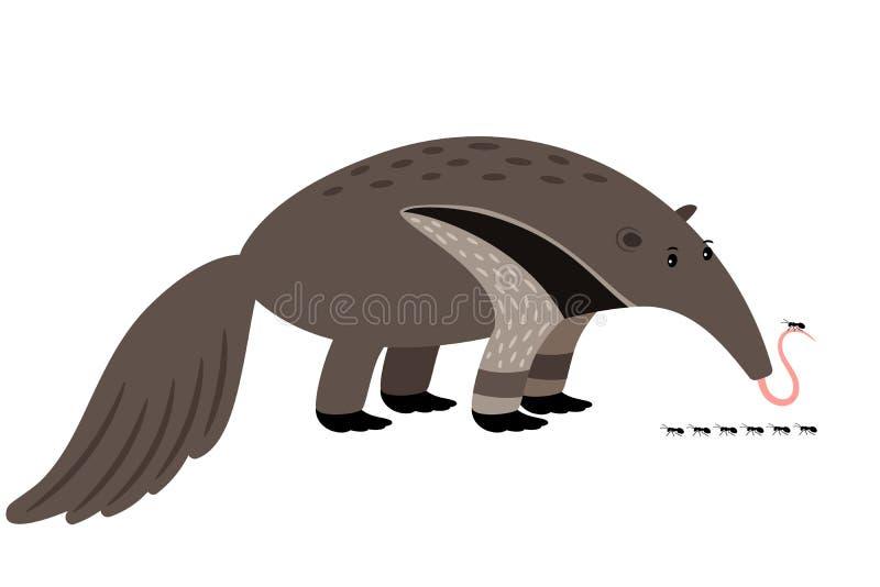 Zjadacz kreskówki zwierzęcia ikona ilustracja wektor