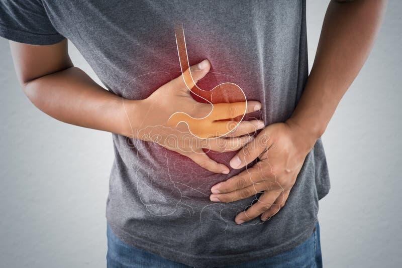 Zjadliwy reflux lub zgaga obrazy stock