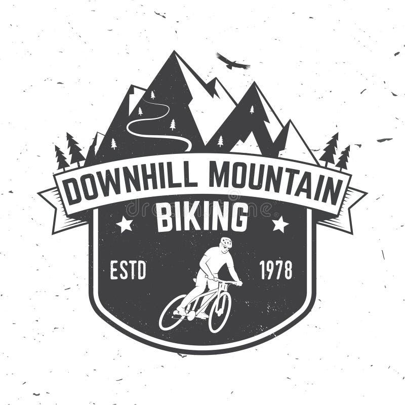 Zjazdowy góry jechać na rowerze również zwrócić corel ilustracji wektora ilustracji