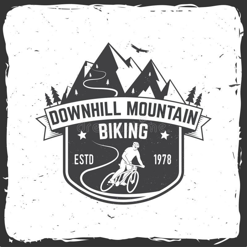Zjazdowy góry jechać na rowerze również zwrócić corel ilustracji wektora royalty ilustracja