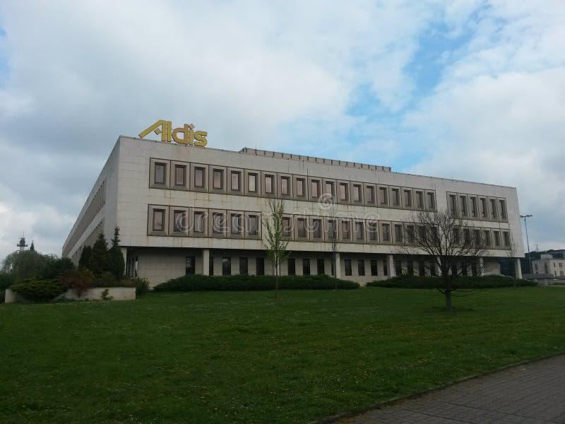Zjazdowy, powystawowy i towarzyski centrum Aldis w Hradec Kralove, republika czech fotografia royalty free