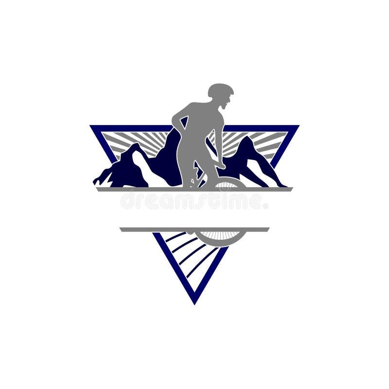 Zjazdowy roweru górskiego Esport logo ilustracji