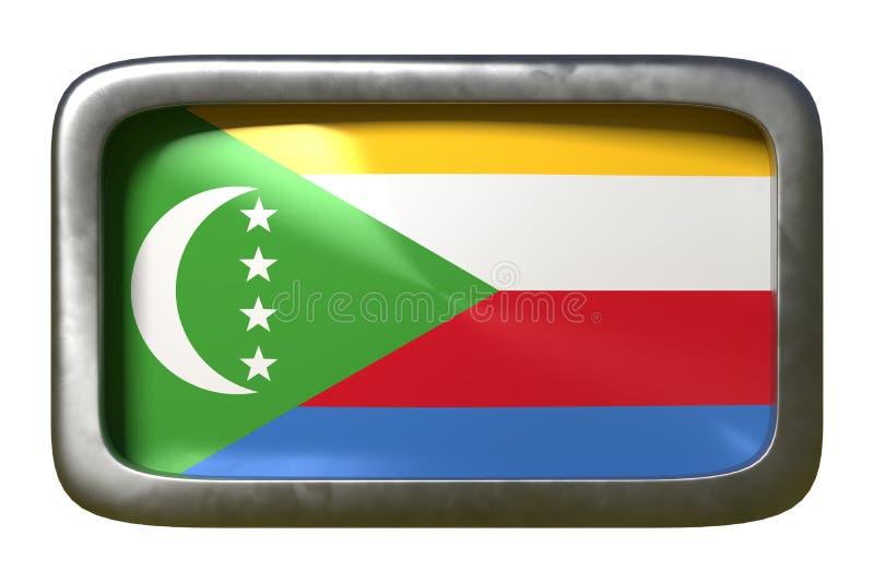 Zjednoczenie Comoros flagi znak ilustracji
