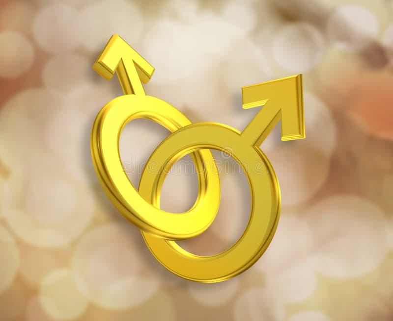 Download Zjednoczenie Męscy symbole ilustracji. Ilustracja złożonej z małżeństwo - 28950222