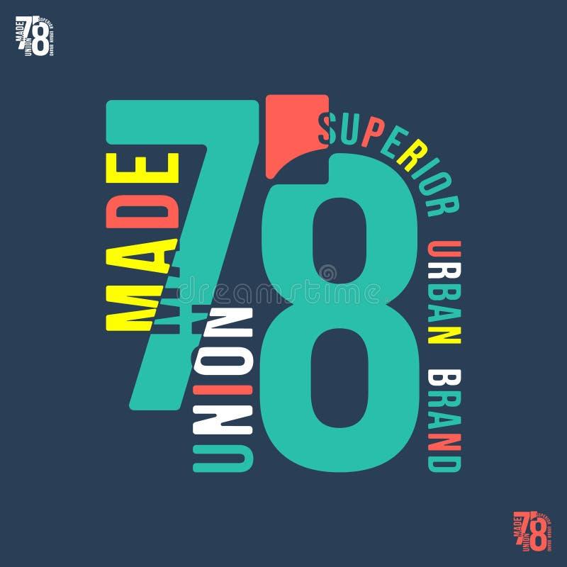 Zjednoczenie Robić 78 t koszulowy druk ilustracji