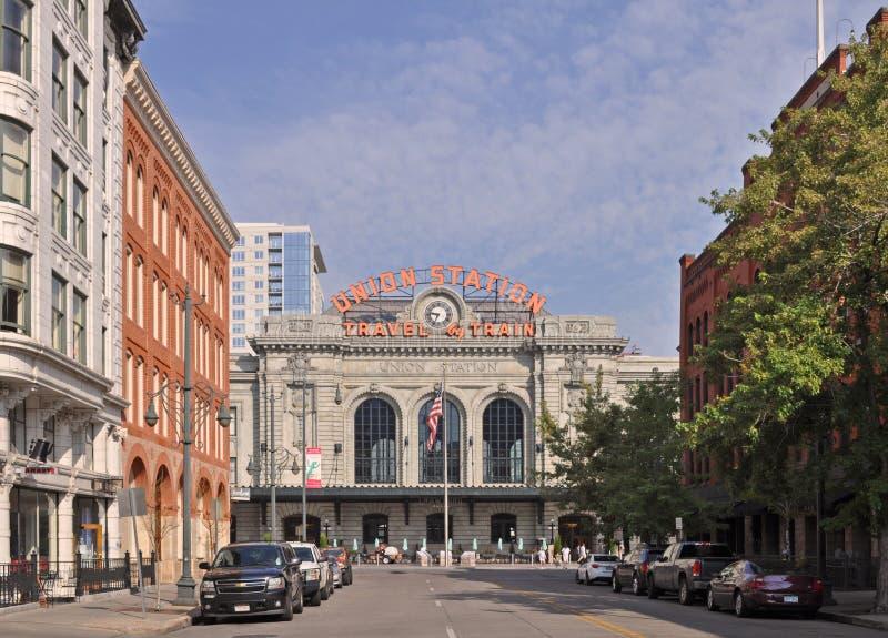 Zjednoczenie stacja w W centrum Denver fotografia royalty free