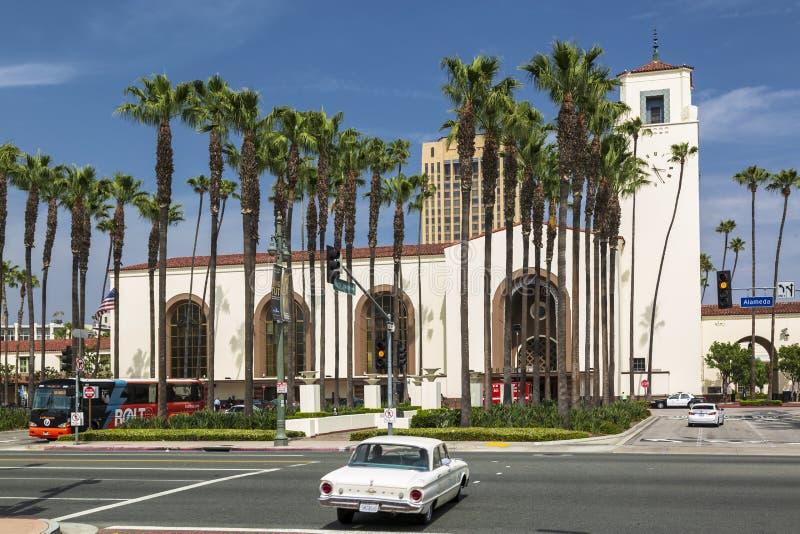 Zjednoczenie stacja, W centrum Los Angeles, Kalifornia, Stany Zjednoczone Ameryka fotografia stock