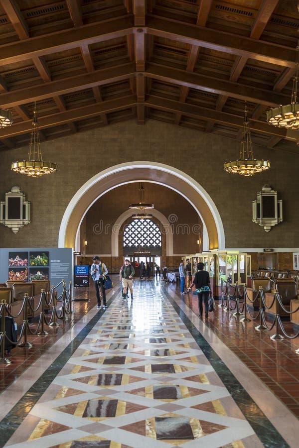 Zjednoczenie stacja, W centrum Los Angeles, Kalifornia, Stany Zjednoczone Ameryka zdjęcie stock