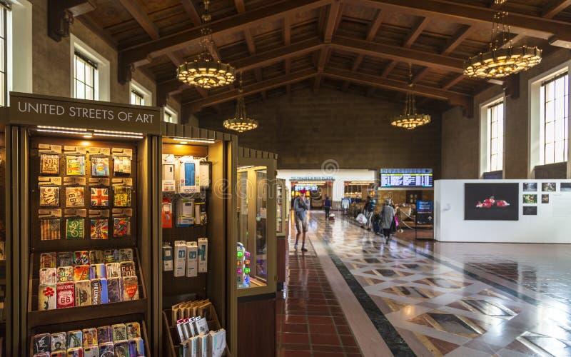 Zjednoczenie stacja, W centrum Los Angeles, Kalifornia, Stany Zjednoczone Ameryka zdjęcia stock