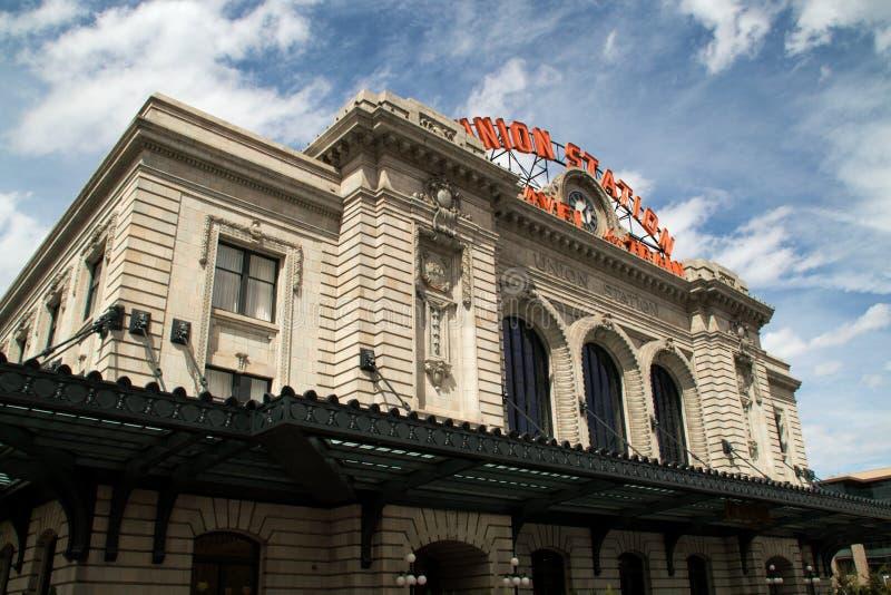 Zjednoczenie stacja w w centrum Denver, Kolorado zdjęcia stock