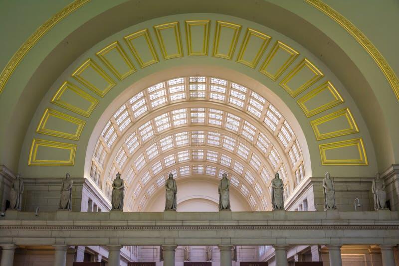 Zjednoczenie Stacyjnej architektury Wewnętrzny washington dc Listopad 2016 obrazy royalty free