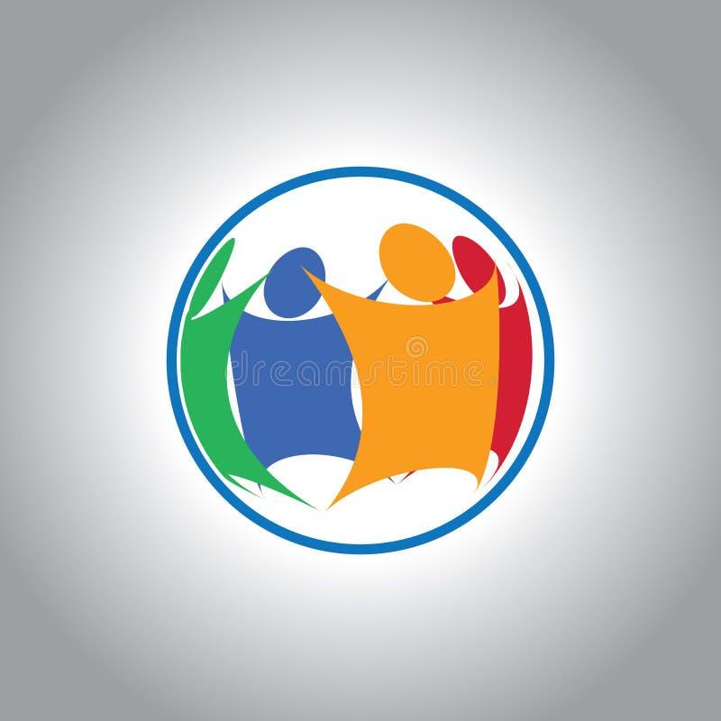 Zjednoczona grupa ludzi wpólnie ilustracja wektor