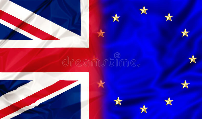 Zjednoczone Królestwo i Europa ilustracja wektor