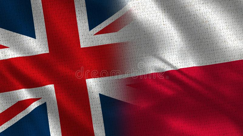 Zjednoczone Królestwo i Polska fotografia royalty free