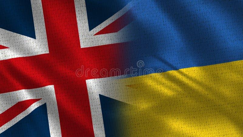 Zjednoczone Królestwo i Ukraina obraz stock