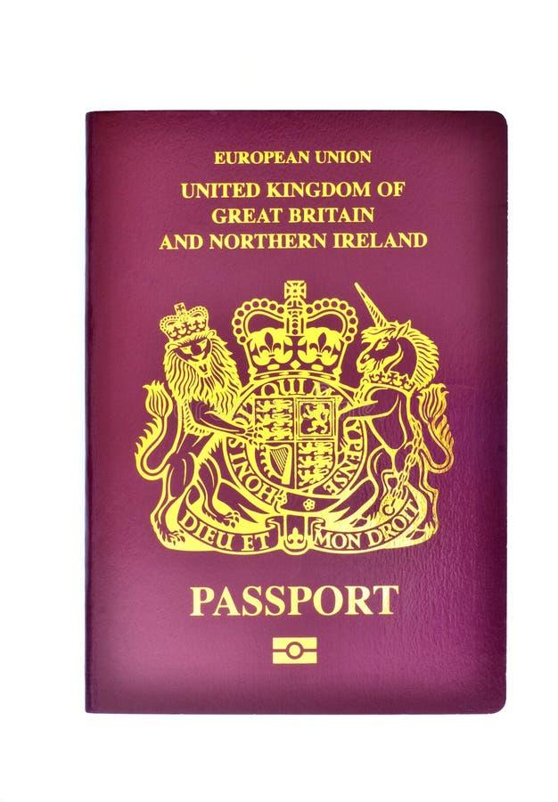 Zlany Kingdom/Brytyjski paszport zdjęcie stock