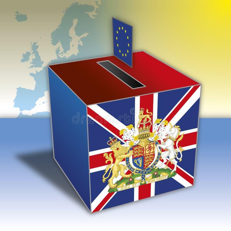 Zlany królestwo vs Europe referendum ilustracja wektor