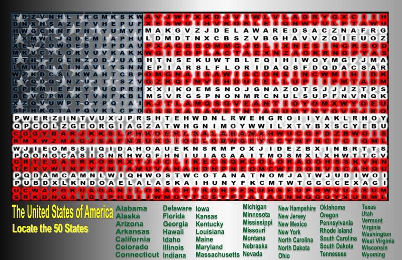 Zlany stan Ameryka ilustracja wektor
