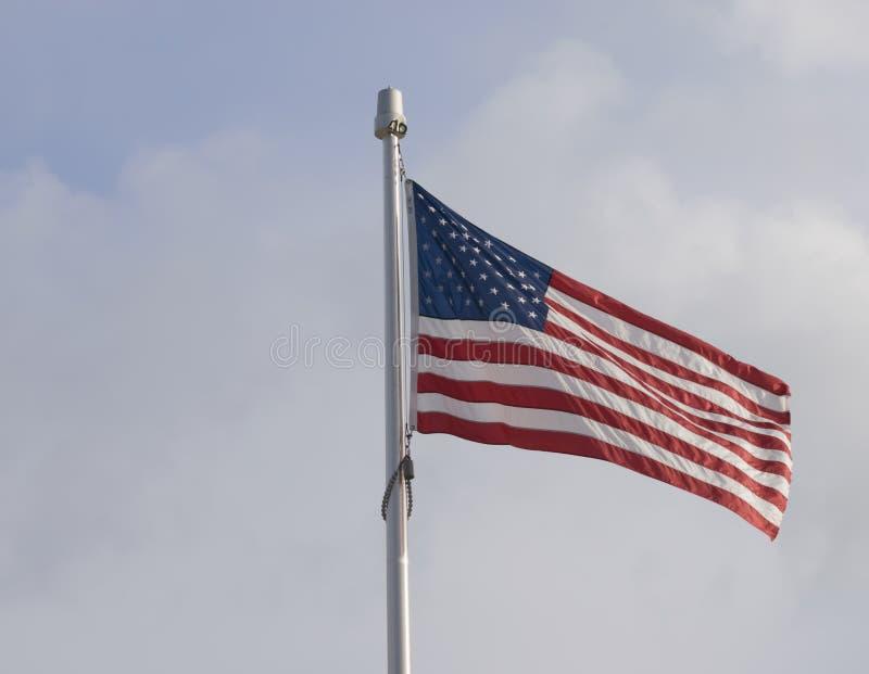 Zlany stan Ameryka flaga obrazy stock
