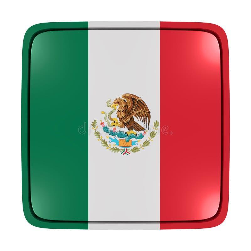 Zlanych Meksykańskich stanów chorągwiana ikona ilustracji