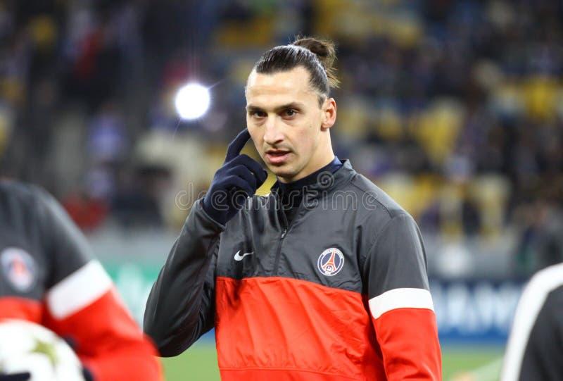 Zlatan Ibrahimovic di FC Parigi San-Germain immagini stock