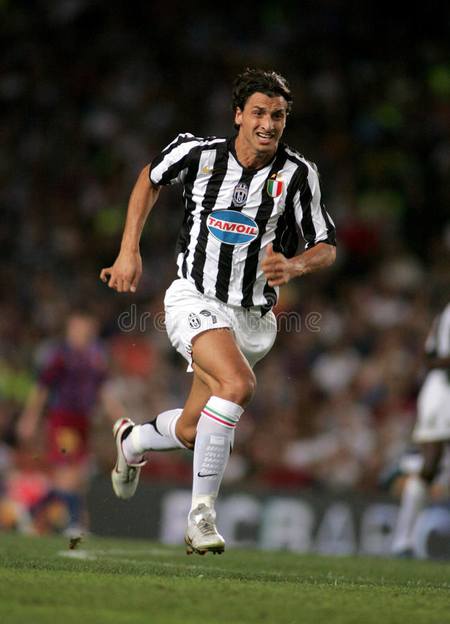Zlatan Ibrahimovic di Juventus fotografie stock libere da diritti