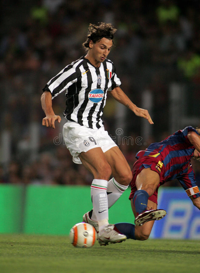 Zlatan Ibrahimovic di Juventus immagine stock
