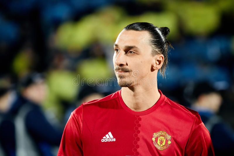 Zlatan Ibrahimovic Feyenoord in match 1/8 finals of the Europa League. Between FC `Rostov` and `Manchester United`, 09 March 2017 in Rostov-on-Don, Russia stock photos