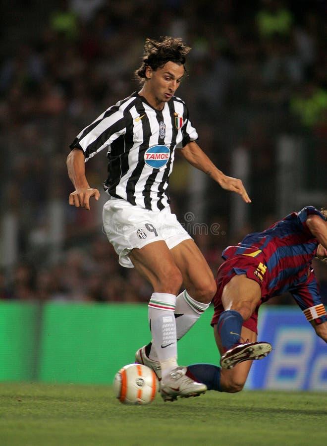 Zlatan Ibrahimovic von Juventus stockbild