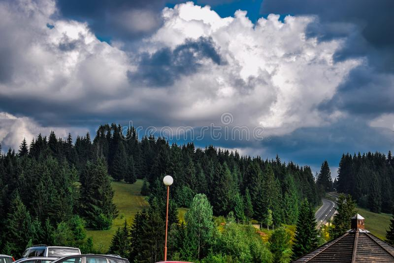 Zlatar, montagne, et belle vue photo libre de droits