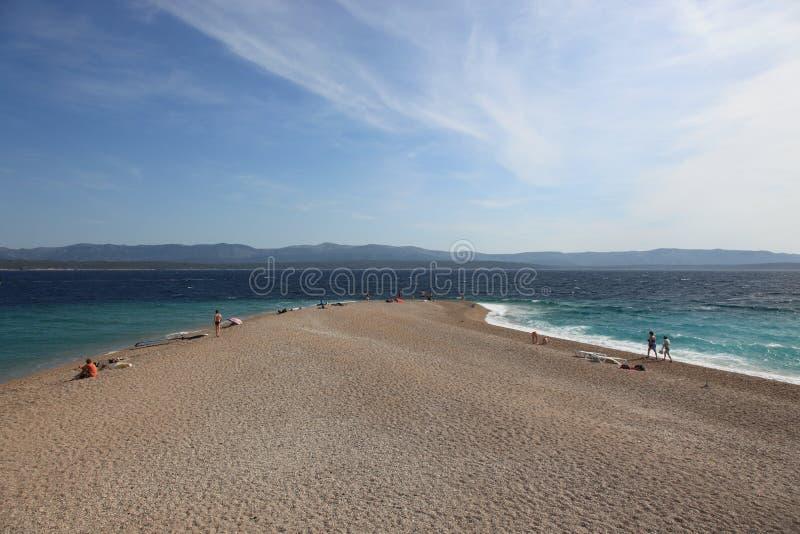 zlatni de rat de la Croatie de plage photo libre de droits