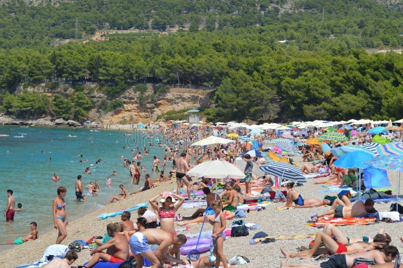 Zlatni-Ratten-Strand-Insel von Brach Bol Kroatien lizenzfreie stockfotos
