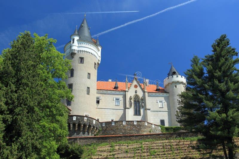 zleby chateau royaltyfria bilder