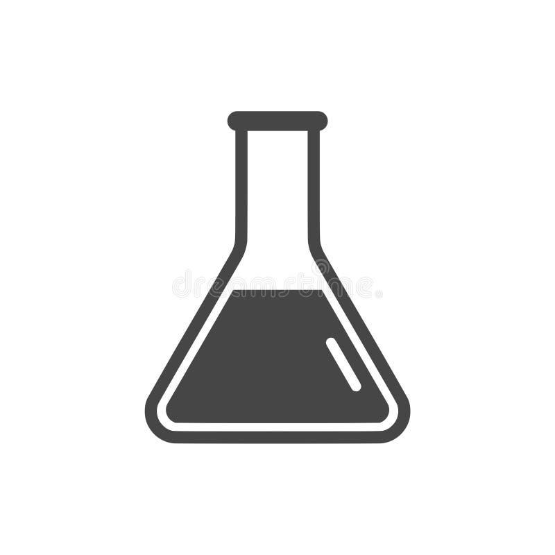 Zlewka Dla eksperymentu loga lub ikony royalty ilustracja