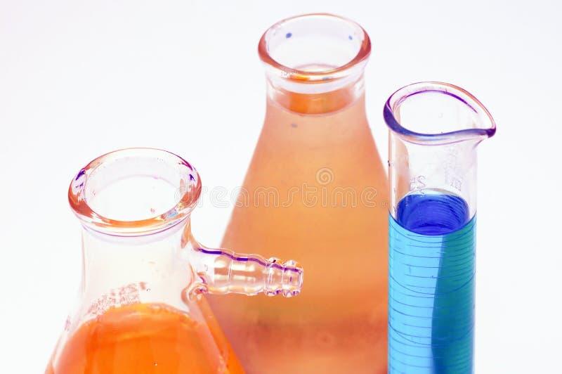 zlewki laboratoryjne zdjęcie stock