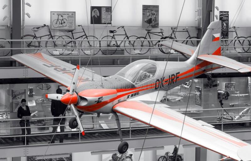 Zlin Z-50LA, OK-IRF, museu técnico nacional, Praga, República Checa fotos de stock