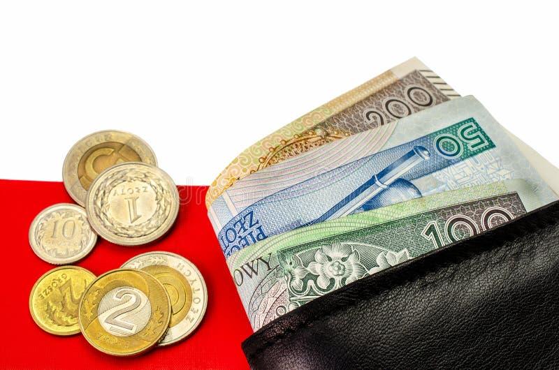 Zloty polacco Molte banconote della denominazione differente immagini stock libere da diritti