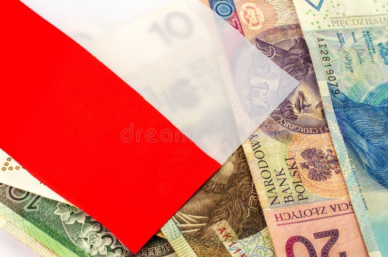 Zloty polacco Molte banconote della denominazione differente fotografia stock libera da diritti