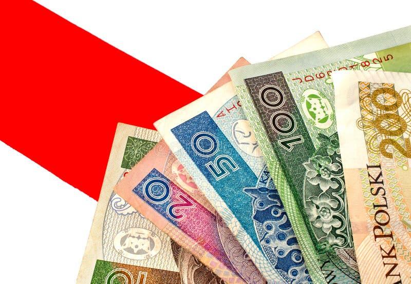 Zloty polacco Molte banconote della denominazione differente immagine stock libera da diritti