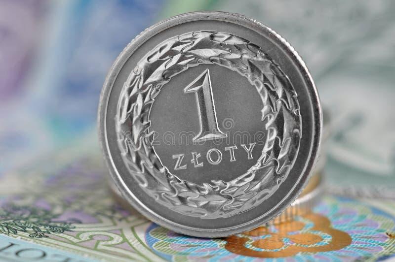 Zloty polaco fotografía de archivo libre de regalías