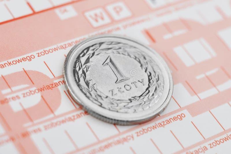 Zloty polaco imagen de archivo