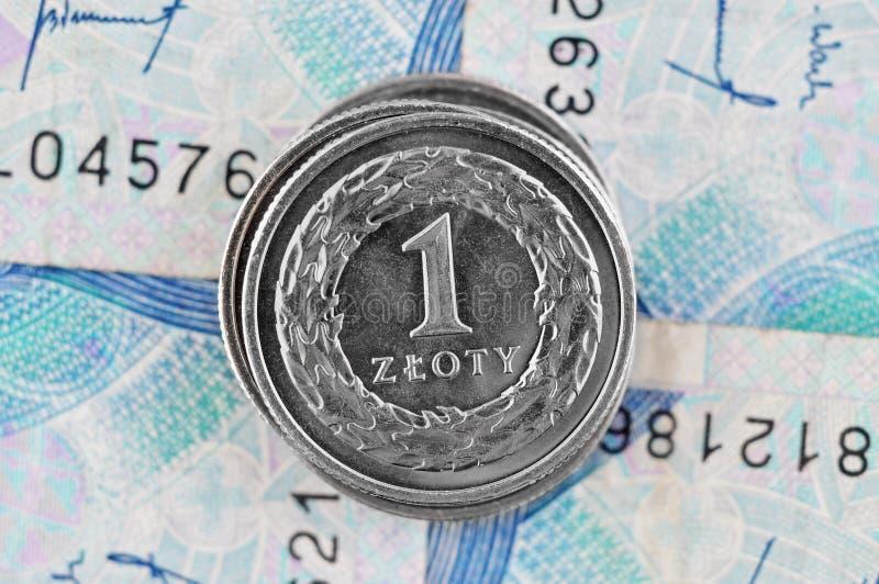 Zloty polaco fotografía de archivo