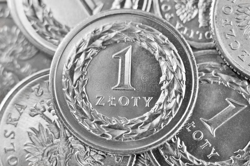 Zloty polaco imágenes de archivo libres de regalías