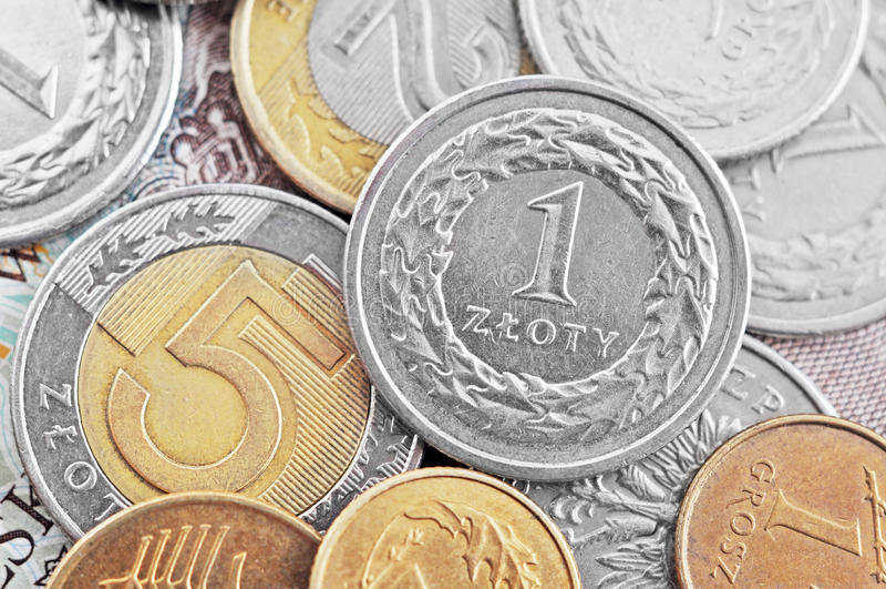 Zloty polonês fotografia de stock royalty free